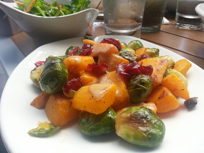LYFE's signature Brussels sprouts with butternut squash and cranberries. Photo by The Conscientious Omnivore (CC BY-NC-ND 3.0)