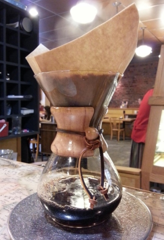 Chemex brew at Seattle Coffee Works. Photo by The Conscientious Omnivore (CC BY-NC-ND 3.0)