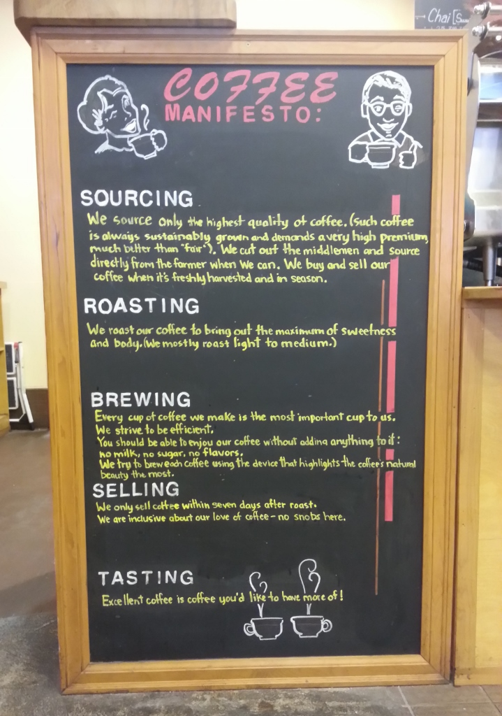 SCW coffee manifesto